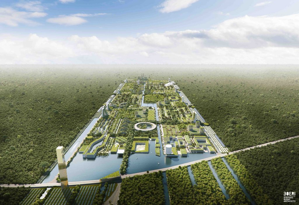 Smart Forest City en Cancún, el primer bosque inteligente en México. *Foto: Stefano Boeri Architetti
