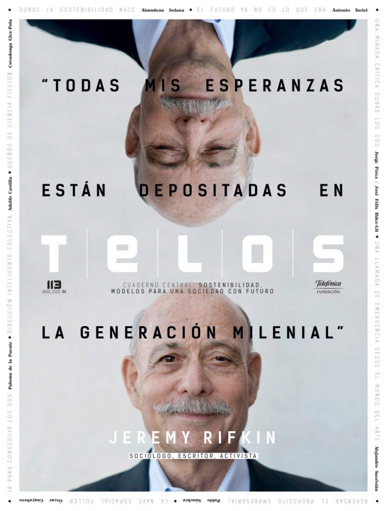 Entrevista en Telos con Jeremy Rifkin sobre un futuro sustentable. Foto: Telos